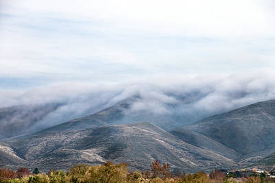 Landscape Photograph - Low Lying Foggy Clouds Roll Over by Debibishop