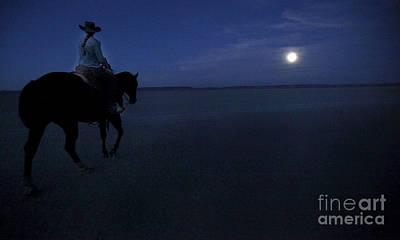 Alvord Desert Wall Art - Photograph - Low Moon Alvord Desert by Michele AnneLouise Cohen