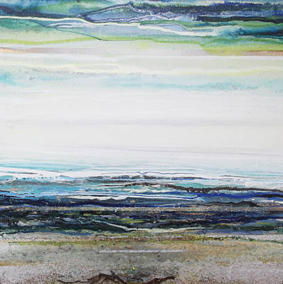 Mixed Media - Low Newton Beach Rhythms And  Textures IIi by Mike   Bell