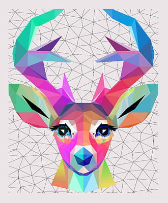 Low Poly Art Print by Mark Ashkenazi