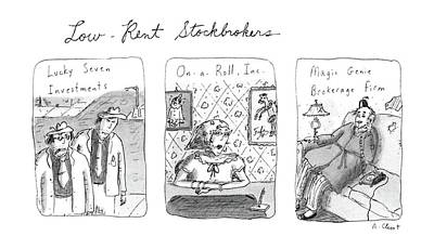 Genie Drawing - Low-rent Stockholders Lucky Seven Investments'' by Roz Chast