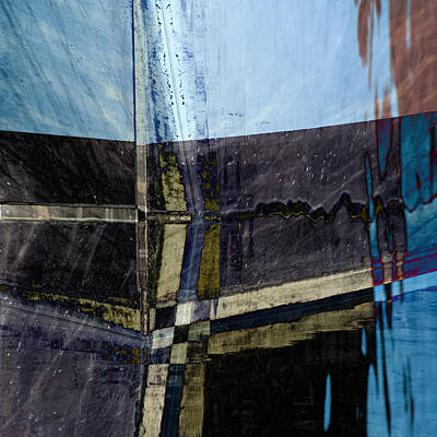 Blue Abstracts Photograph - Low Tide 4 by Carol Leigh