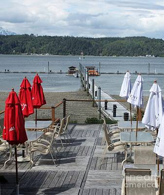 Photograph - Low Tide Above The Outdoor Patio At Alderbrook by Terri Thompson