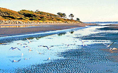 Photograph - Low Tide At Jekyll Island by Kristin Elmquist