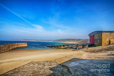 Sennen Cove Photograph - Low Tide At Sennen Cove 2 by Chris Thaxter