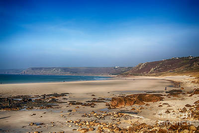 Low Tide At Sennen Cove Print by Chris Thaxter