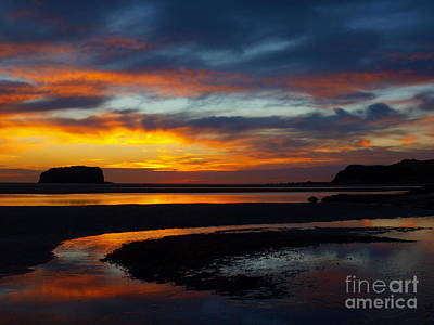 Art Print featuring the photograph Low Tide At Sunrise by Trena Mara