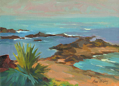 Caribbean Sea Painting - Low Tide by Diane McClary