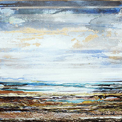 Mixed Media - Low Tide Hauxley Haven No10 by Mike   Bell