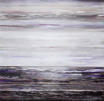 Mixed Media - Low Tide Hauxley Haven Rhythms And Textures Purple by Mike   Bell