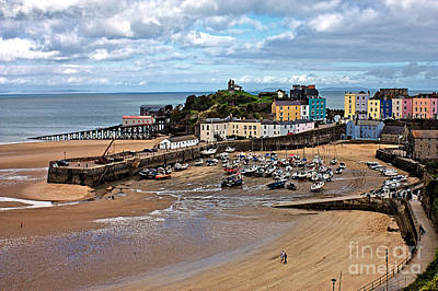 Photograph - Low Tide In Tenby Harbour by Jeremy Hayden