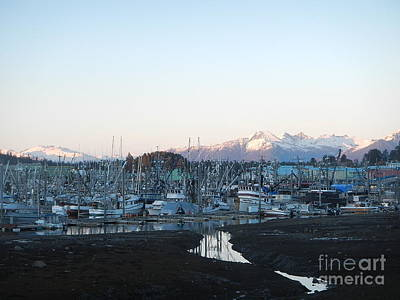 Low Tide In Winter Art Print