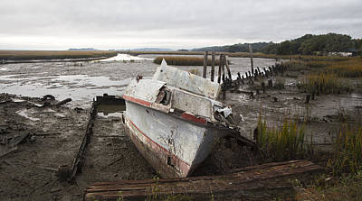 Photograph - Low Tide Panorama by Jim Dollar