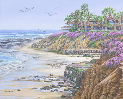 Painting - Low Tide Solana Beach by Jane Girardot