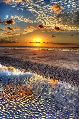 Photograph - Low Tide Sunrise On Jekyll Island by Greg and Chrystal Mimbs