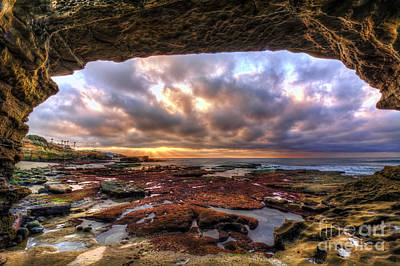Photograph - Low Tide Sunset In La Jolla by Eddie Yerkish