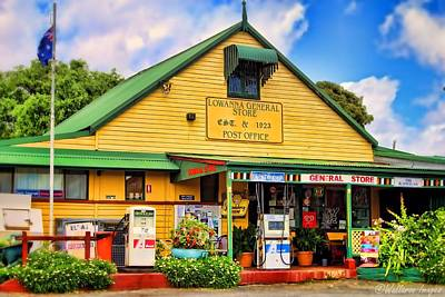 Photograph - Lowanna General Store by Wallaroo Images