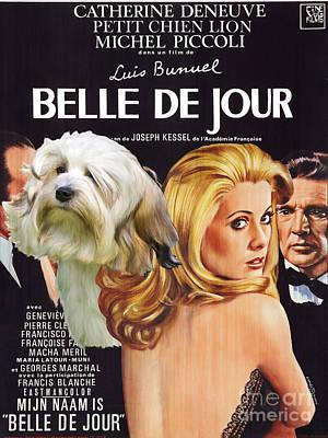 Painting - Lowchen Art - Belle De Jour Movie Poster by Sandra Sij