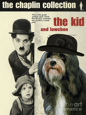 Painting - Lowchen Art - The Kid Movie Poster by Sandra Sij