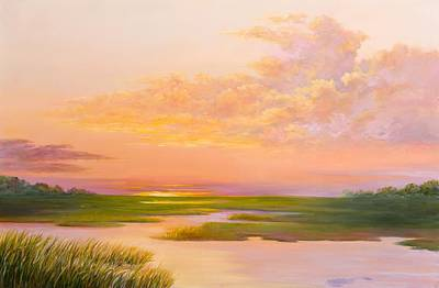Lowcountry Marshes Painting - Lowcountry Afternoon by Audrey McLeod