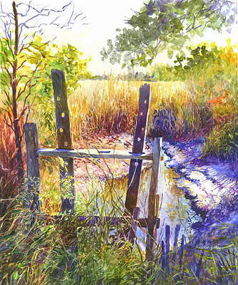 Rice Field Painting - Lowcountry Legacy by Alice Grimsley