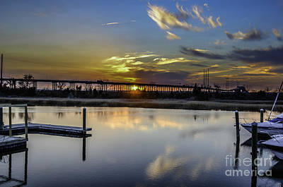 Photograph - Lowcountry Marina Sunset by Dale Powell