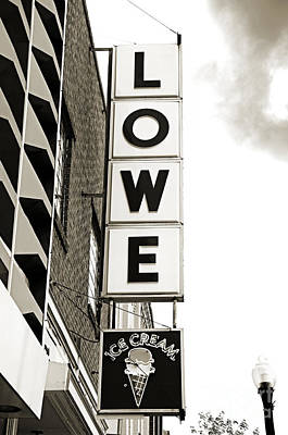 Andee Design Bw Photograph - Lowe Drug Store Sign Bw by Andee Design