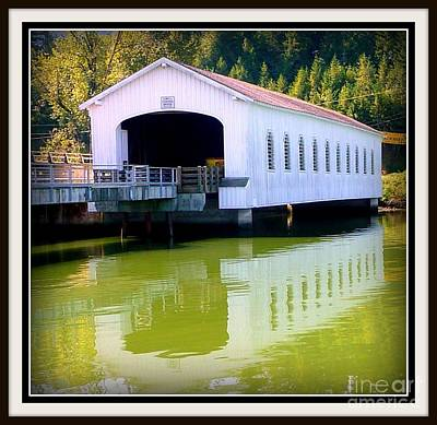 Photograph - Lowell Covered Bridge  by Susan Garren