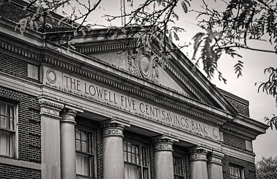 Photograph - Lowell Five Cent Savings Bank by Phil Cardamone
