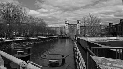 Photograph - Lowell Ma Architecture Bw by Michael Saunders
