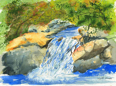 Painting - Lower Burch Creek by Walt Brodis