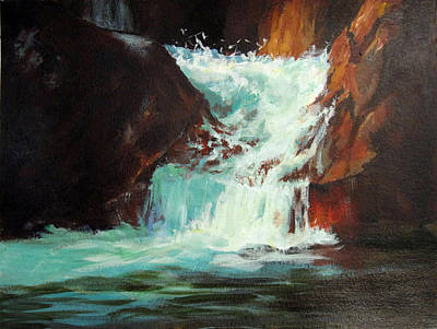 Painting - Lower Chasm Falls by Carol Hart