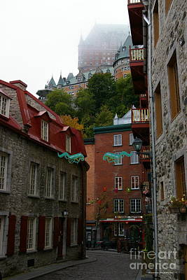 Lower City Quebec Art Print by Tannis  Baldwin