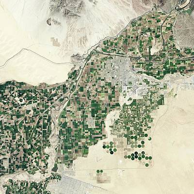 Lower Colorado River Art Print by Nasa Earth Observatory