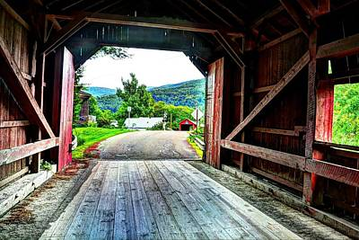 Photograph - Lower Covered Bridge by John Nielsen