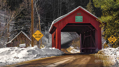 Photograph - Lower Covered Bridge. by New England Photography