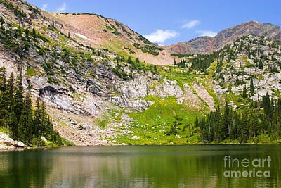 Steven Krull Royalty-Free and Rights-Managed Images - Lower Crater Lake by Steven Krull