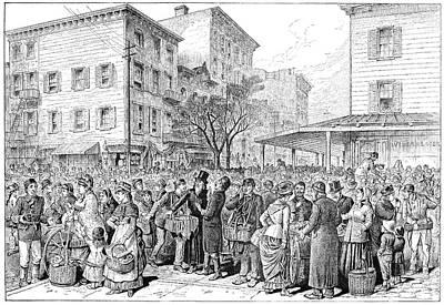 American City Scene Drawing - Lower East Side, 1884 by Granger