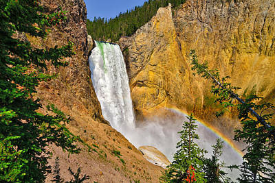 Canyon Photograph - Lower Falls From Uncle Toms Trail by Greg Norrell