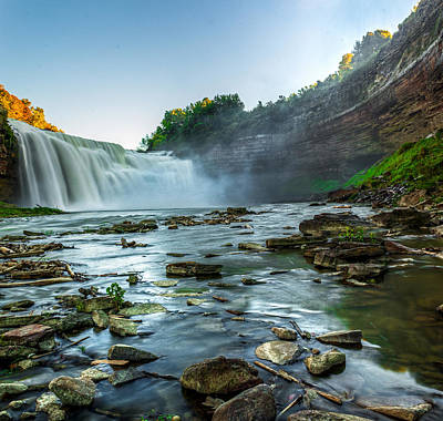 Lower Falls Genesee River Art Print by Tim Buisman