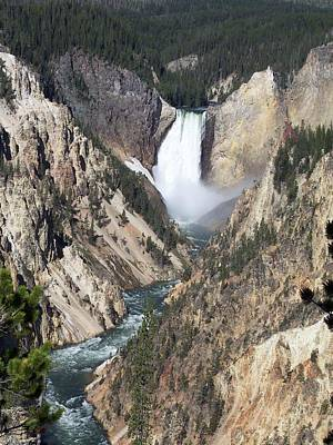 Photograph - Lower Falls by Georgia Hamlin