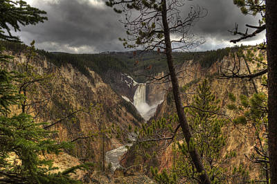 Photograph - Lower Falls by Jack R Perry