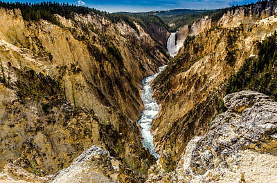Photograph - Lower Falls Of The Yellowstone River by Debra Martz