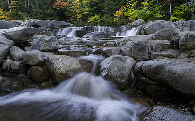 Photograph - Lower Falls On Kancamagus Highway New Hampshire by Jatinkumar Thakkar