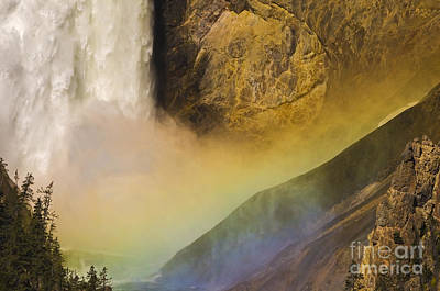 Photograph - Lower Falls Rainbow - Yellowstone by Sandra Bronstein