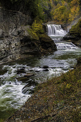 Photograph - Lower Falls by Sara Hudock