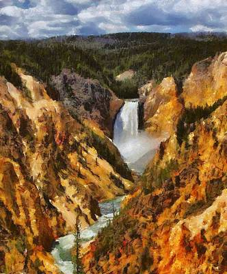Loop Painting - Lower Falls Yellowstone by Dan Sproul