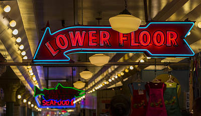 Lower Floor And Salmon Art Print by Scott Campbell