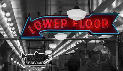 Lower Floor Selective Black And White Art Print by Scott Campbell
