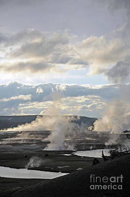 Photograph - Lower Geyser Basin by Cindy Murphy - NightVisions